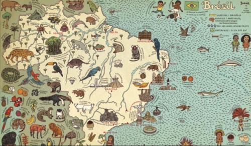 """Le Brésil dans l'atlas pour enfants """"Cartes"""""""